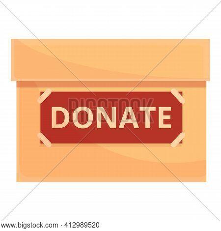 Nonprofit Box Donation Icon. Cartoon Of Nonprofit Box Donation Vector Icon For Web Design Isolated O