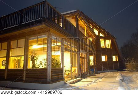 A Winter Garden Or A Conservatory Of A Detached House