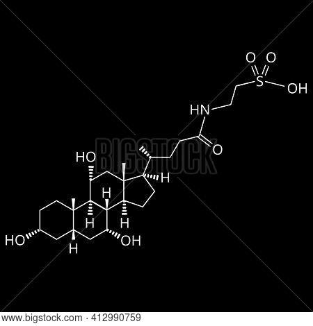 Taurocholic Acid. Bile Acid. Chemical Molecular Formula Taurocholic Acid. Vector Illustration On Iso