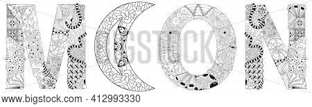 Moon Sign, Astrology Concept Art. Tattoo Design. Horoscope Signs, Magic Symbols, Icons. Astrology Co