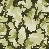 Illustration of a military camouflage with green shades for army background and camo wallpapers poster