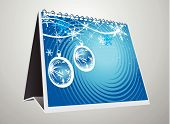 vector 3d note pad for design -Christmas background poster