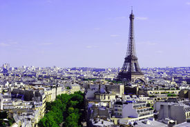 Eiffel tower, city of Paris