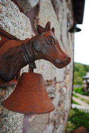 Old cow rusty ring bell
