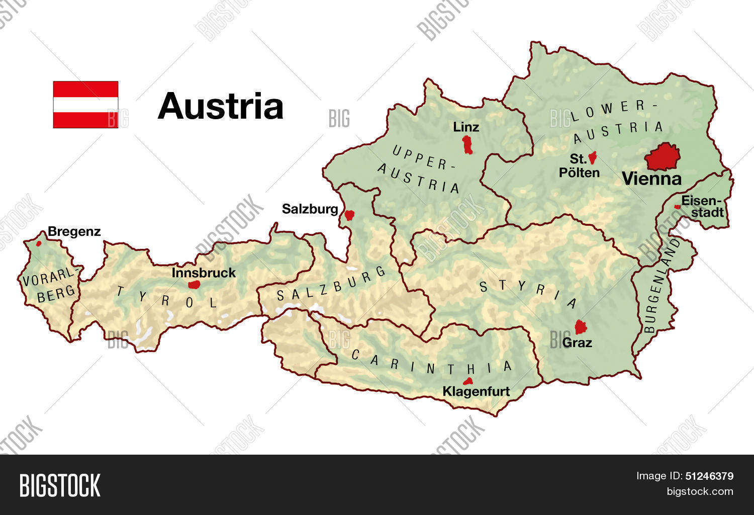 Austria Map Image & Photo (Free Trial)   Bigstock on pinkafeld austria map, munich germany map, germany and austria map, wiener neustadt austria map, munich austria map, austria world map, vienna map, italy germany austria map, zell am see austria map, stubai austria map, austria province map, encarnacion paraguay on a map, alps map, mariazell austria map, eisenstadt austria map, zurich austria map, mittenwald map, strasbourg austria map, salzburg austria map, hallstatt austria map,