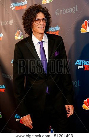 NEW YORK-SEP 11: Judge and radio host Howard Stern attends the pre-show red carpet for NBC's