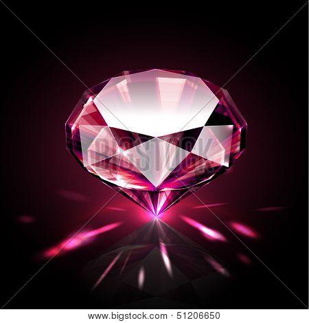 Bright shimmering ruby - raster version
