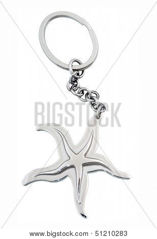 star keychain isolated on white