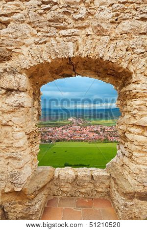 Loophole In Castle And Spis Hrad