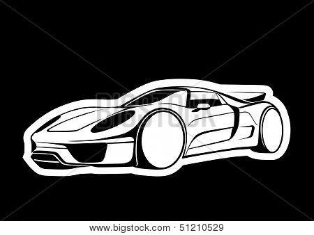 Super auto over black
