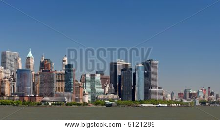 Lower Manhattan Under Clear Blue Skies