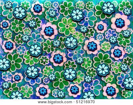 60's Flower Pattern