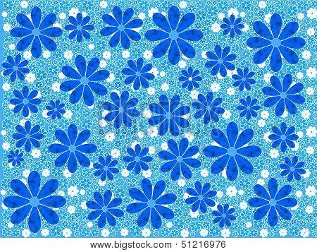 Blue Flower Art Pattern