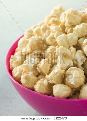 Bowl Of Toffee Popcorn