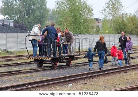 Historic Railway In Poland