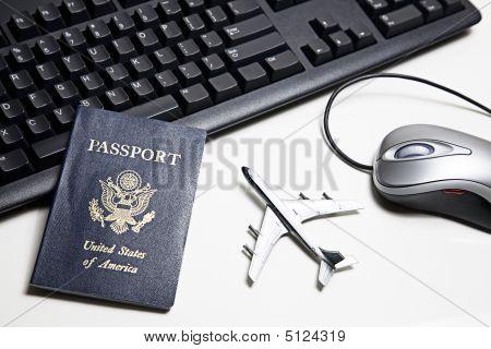 Online Travel Concept Still Life
