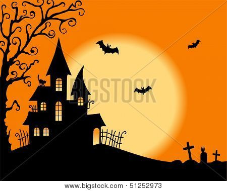 Halloween vector card