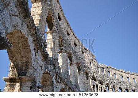 The Amphitheater of Pula.