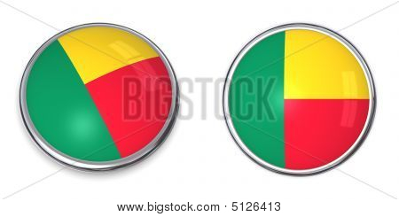 button style banner in 3D of Benin poster