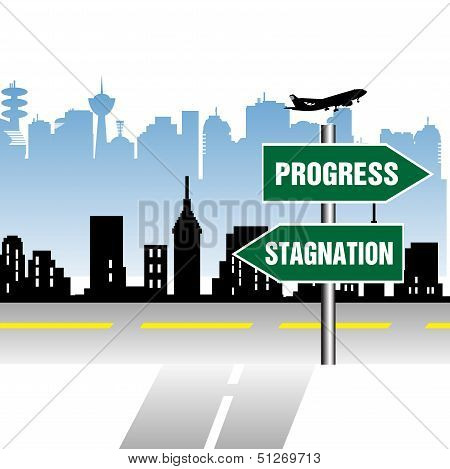 Progress and stagnation signpost