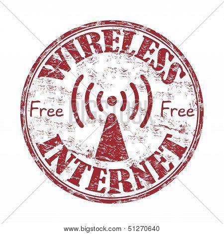 Wireless internet rubber stamp