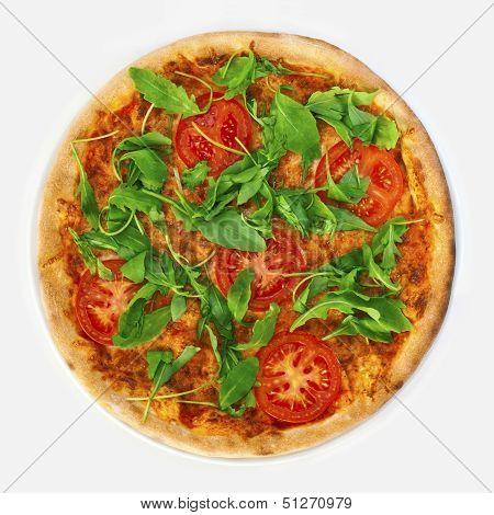 Pizza Margharita With Arugula