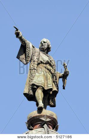 Monument Of Christopher Columbus, Barcelona, Spain