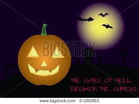Pumpkin On Cemetery