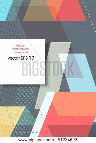 Abstract parallelogram background