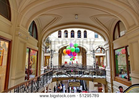 Inside the GUM department store