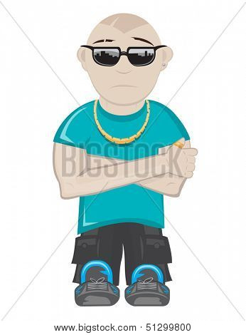 Hip Hop Guy cartoon illustration