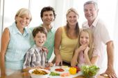 familyCooking Dinner Food Healthy Kitchen Vegetables 10 Year Old 30s 50s Boys Brother Caucasian Child Color Colour Cutting Daughter Domestic Father Fifties Girl Grandfather Grandmother Happy Home Horizontal Image Indoors Knife Lunch mealmealtime Men Mid A poster