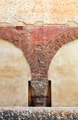 Abstract architectural detail in Verona, Italy, Europe poster