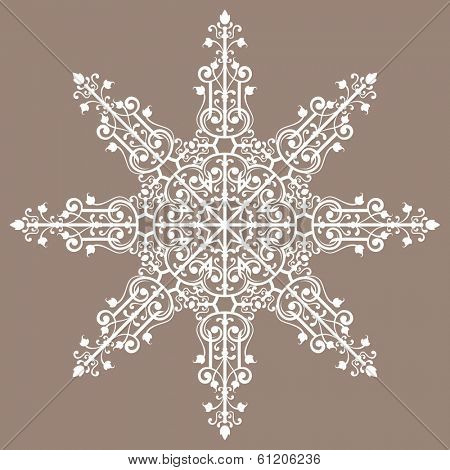 Vintage background ornament, lace star