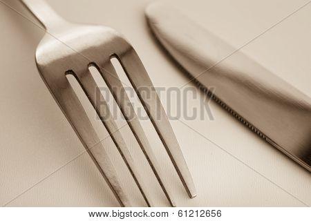 Macro Image Of Cutlery