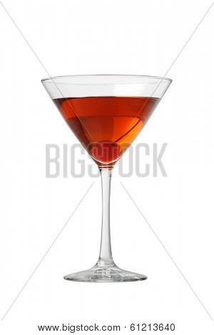 Manhattan cocktail cutout, isolated on white background