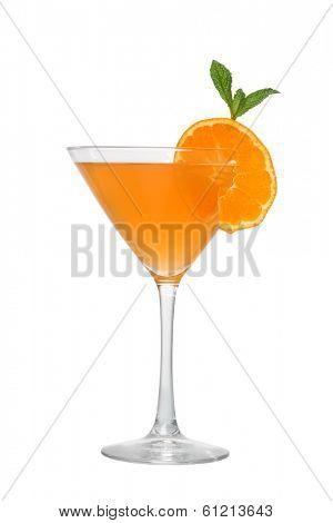 Orange cocktail cutout, isolated on white background