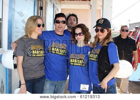 LOS ANGELES - MAR 8: Kelly Sullivan, Dominic Zamprogna, Rick Hearst, Rebecca Herbst, Lisa LoCicero at the 5th Annual General Hospital Habitat for Humanity Fan Build Day on March 8, 2014 in Lynwood, CA