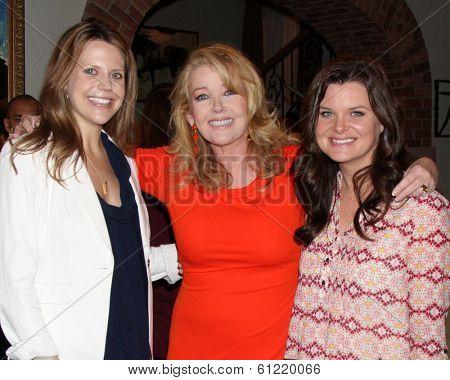 LOS ANGELES - MAR 4:  Ashley Millan, Melody Thomas Scott, Heather Tom as Melody Thomas Scott Celebrates 35 yrs at the