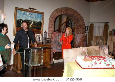 LOS ANGELES - MAR 4:  Jill Farren Phelps, Joshua Morrow, Melody Thomas Scott as Melody Thomas Scott Celebrates 35 yrs at YnR at CBS TV City on March 4, 2014 in Los Angeles, CA