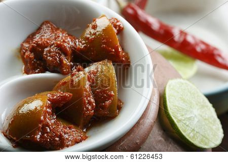 Hot Lemon Pickle - A popular spicy Indian Pickle