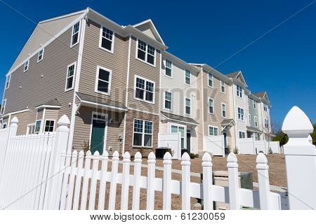 Row of townhouses