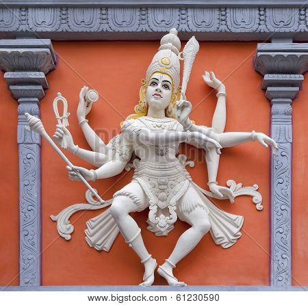 Nataraj Dancing Shiva Wall Relief Statue