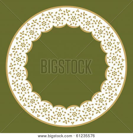 Circle Frame Of Lace
