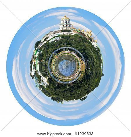 Spherical Panoramic View Of Kiev Pechersk Lavra