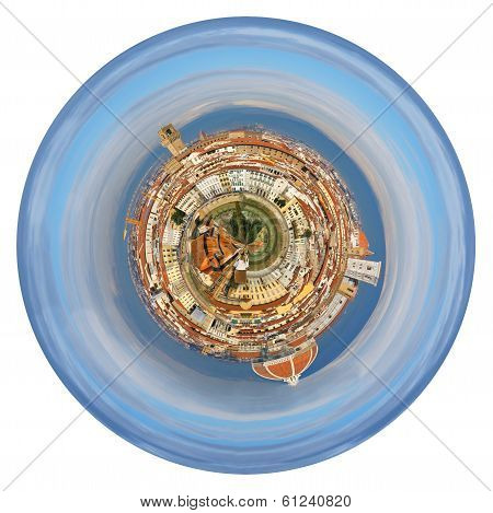 Spherical View Of Florence Italy From Michelangelo Park
