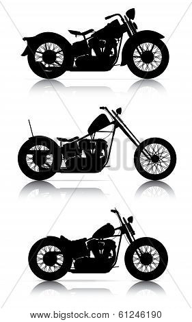 Set Of Motorcycle Silhouettes