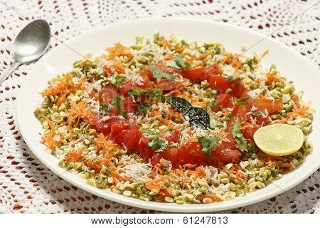 Moong Dal gajjar chaat from India
