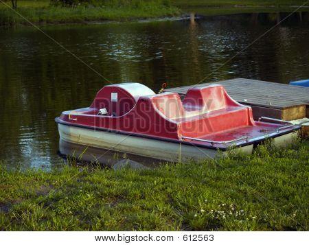 Paddleboats On Lake