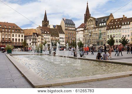 The Place Kleber In Strasbourg. Alsace, France